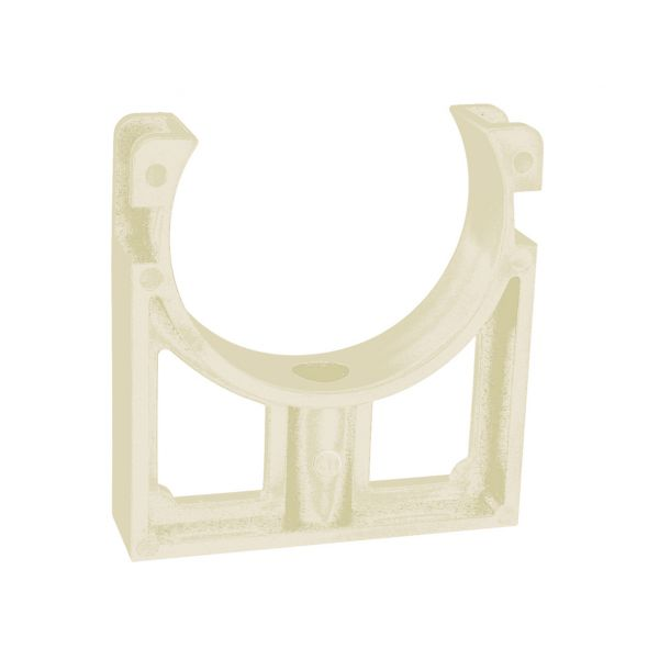 OPEN PIPE CLIPS COLLER BLANC