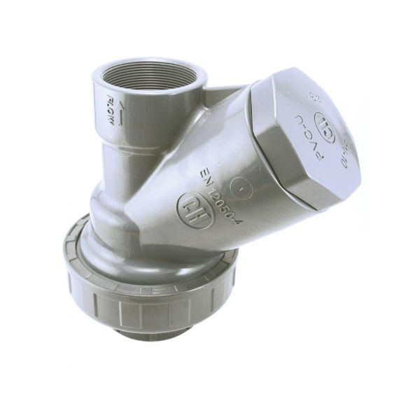 "CHECK VALVE ""Y"" WITH PVC BALL, JOINTS FPM THREAD PVC-U"