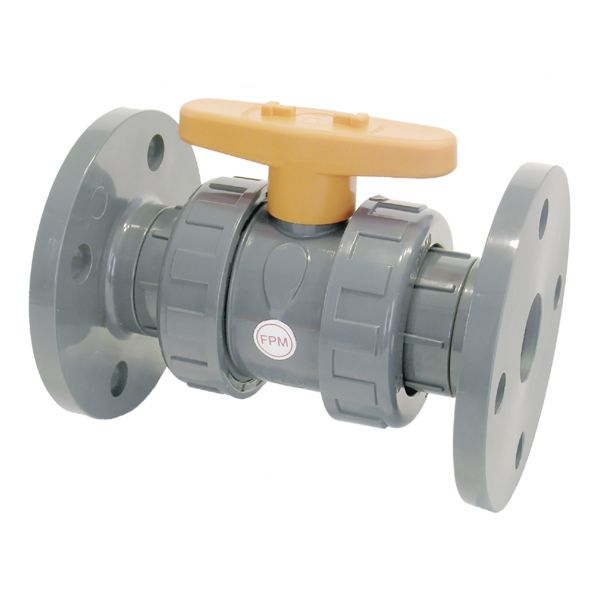 2 WAY BALL VALVE CR TYPE WITH FLANGES FPM