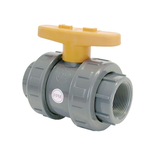 2 WAY BALL VALVE  DOUBLE UNIÓN THREAD FPM CR