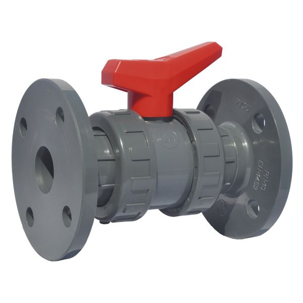 2 WAY BALL VALVE DOUBLE UNIÓN EXPORT WITH FLANGES EPDM