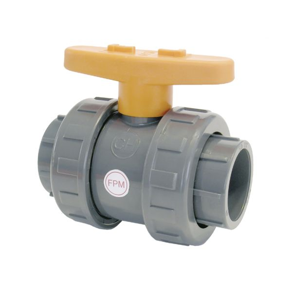 2 WAY BALL VALVE DOUBLE UNIÓN SOCKET FPM CR