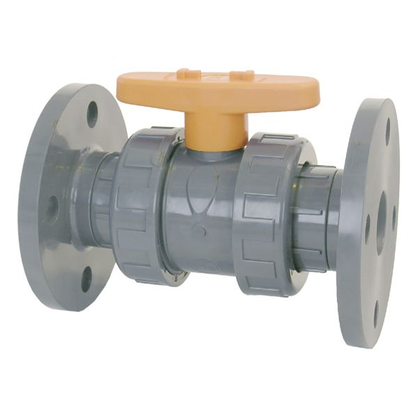 2 WAY BALL VALVE WITH FLANGES CR TYPE EPDM
