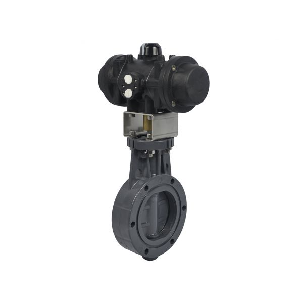 BUTTERFLY VALVE WAFER - EPDM DOUBLE EFFECT PNEUMATIC ACTUATOR