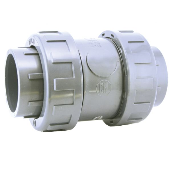 CHECK VALVE WITH PVC BALL EPDM DOUBLE UNIÓN SOLVENT EPDM